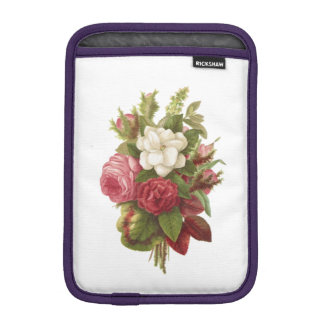 ELEGANT FLORAL VINTAGE RED AND WHITE BOUQUET iPad MINI SLEEVE