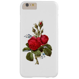ELEGANT FLORAL VINTAGE RED ROSES BARELY THERE iPhone 6 PLUS CASE