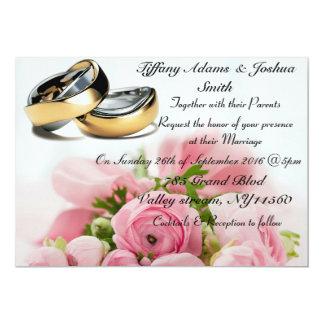 Elegant floral, wedding band Invitations