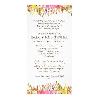 Elegant Florals Funeral Sympathy Thank You Cards