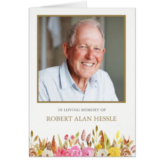 Elegant Florals Sympathy Funeral Thank You Cards