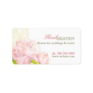 Elegant Flower Business Favor Address Label
