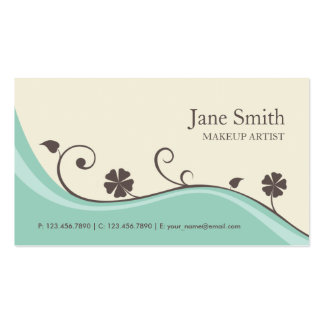 Elegant Flower Floral Retro Modern Stylish Classy Business Card Template