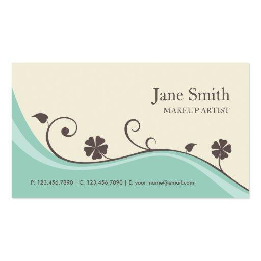 Elegant Flower Floral Retro Modern Stylish Classy Business Card Template