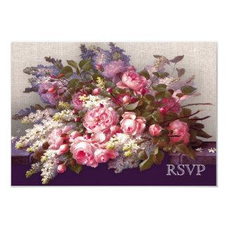"Elegant Flower Painting Design Response Cards 3.5"" X 5"" Invitation Card"