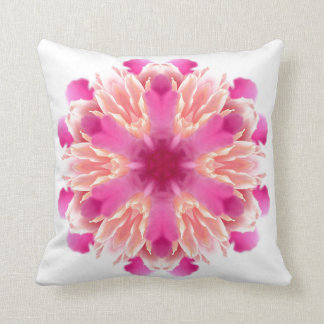 elegant flower peach pink white by healing love throw pillows