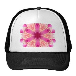 elegant flower peach pink white by healing love mesh hats