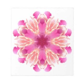 elegant flower peach pink white by healing love notepads