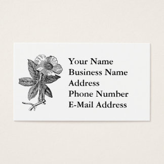 Elegant Flower Pencil Sketch Business Card
