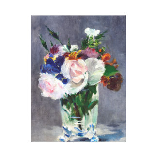 Elegant Flowers in a Crystal Vase Canvas Prints