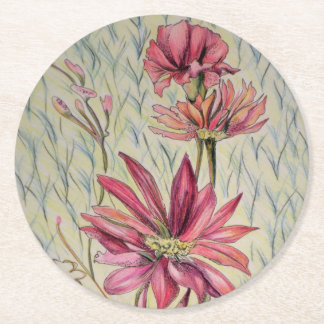 "Elegant Flowers ""Wallflowers II"" Coaster Set"