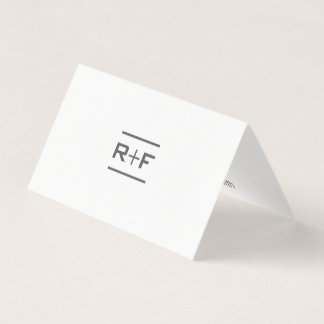 Elegant Folded Notecards Business Card