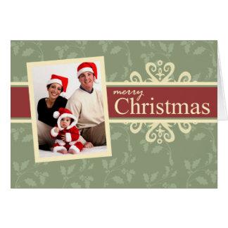 Elegant Folded Photo Christmas Greeting Card