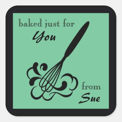 Elegant Food Gift Labels Square Sticker