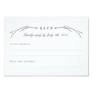 Elegant Forest Wedding RSVP Cards