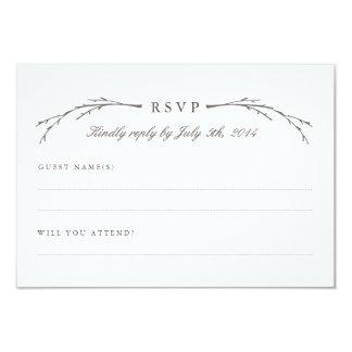 Elegant Forest Wedding RSVP Cards Invitation