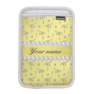 Elegant Fox Faux Gold Foil Bling Diamonds iPad Mini Sleeve
