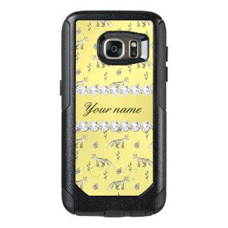Elegant Fox Faux Gold Foil Bling Diamonds OtterBox Samsung Galaxy S7 Case
