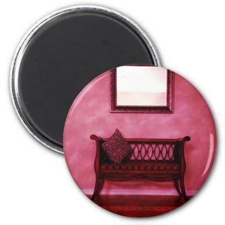 Elegant Foyer Settee Seat Mirror Interior Design 6 Cm Round Magnet