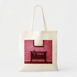 Elegant Foyer Settee Seat Mirror Interior Design Tote Bag