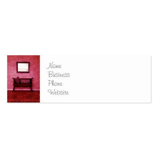 Elegant Foyer Settee Seat Mirror Interior Design Business Cards