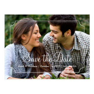Elegant Frame Save the Date Photo Postcard