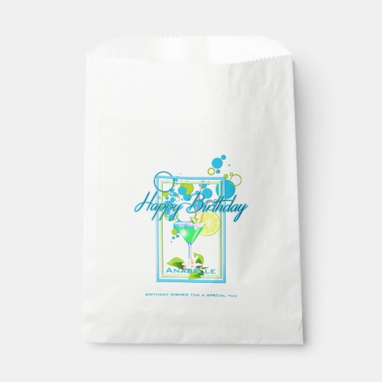 Elegant Frame Vivid Colours Birthday Cocktail Favour Bag