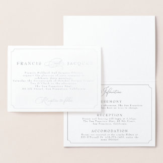 elegant frame wedding invitation