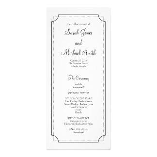 Elegant Frame Wedding Program Rack Card