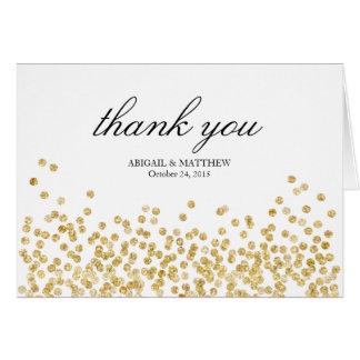 Elegant Frame Wedding Thank You Note Card