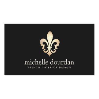 Elegant French Interior Designer Gold Fleur De Lis Pack Of Standard Business Cards