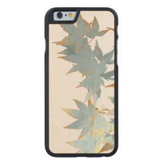 Elegant Frosted Fall Japanese Maple Leaves Garland Carved® Maple iPhone 6 Case