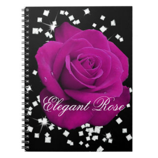 Elegant Fuchsia Rose Notebook