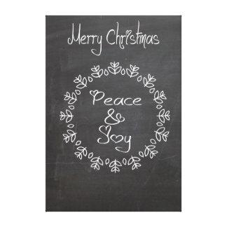 Elegant fun Christmas holiday chalkboard Stretched Canvas Prints