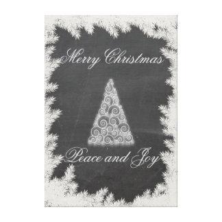 Elegant fun Christmas tree holiday chalkboard Gallery Wrap Canvas