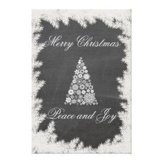 Elegant fun Christmas tree holiday chalkboard Stretched Canvas Prints