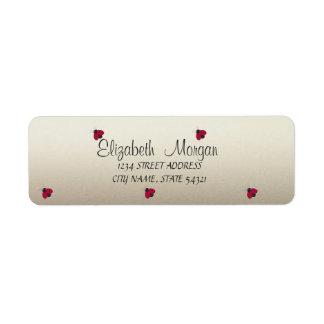 Elegant Funny Cute Ladybugs Label Return Address Label