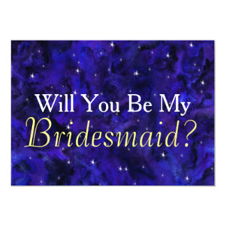 Elegant Galaxy Will You Be My Bridesmaid Card