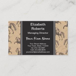 Horse business cards zazzle au elegant galloping spanish horse business card colourmoves