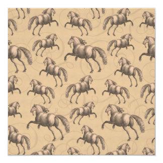 Elegant Galloping Spanish Horse Custom Invites