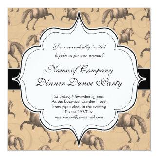Elegant Galloping Spanish Horse 13 Cm X 13 Cm Square Invitation Card