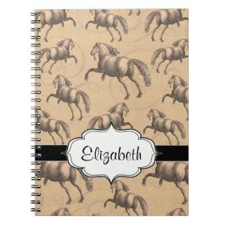 Elegant Galloping Spanish Horse Notebook