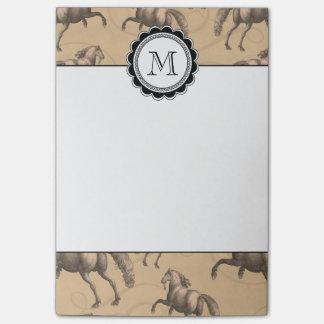 Elegant Galloping Spanish Horse Post-it Notes