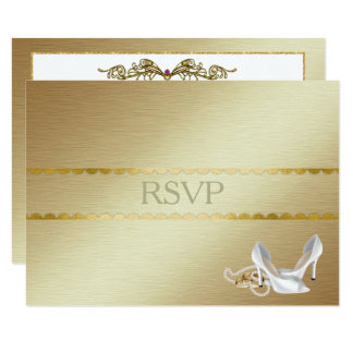 Elegant gay Wedding RSVP Card
