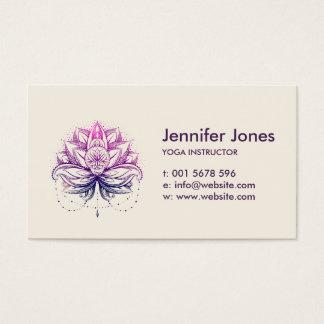 Elegant Gentle Watercolor Lotus / Lily flower Business Card