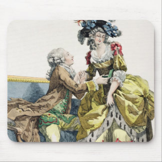 Elegant Gentleman Proposing to a Lady in a 'Margue Mouse Pad