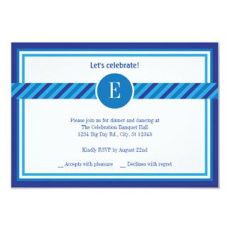 Elegant Geometric Bar Mitzvah Reception Card 9 Cm X 13 Cm Invitation Card