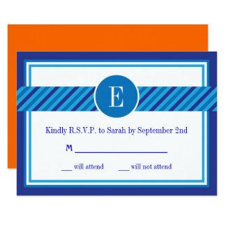 Elegant Geometric Bar Mitzvah RSVP Card 9 Cm X 13 Cm Invitation Card