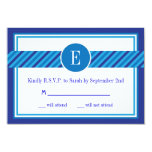 Elegant Geometric Bar Mitzvah RSVP Card Custom Invitation