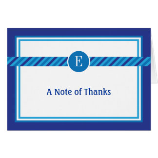 Elegant Geometric Bar Mitzvah Thank You Card